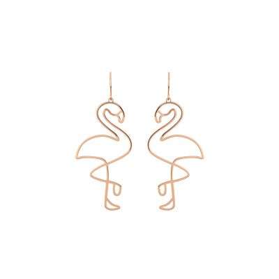Cute Flamingo Dangle Earrings for Party