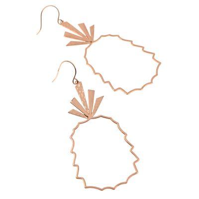 Pineapple Geometric Dangle Earrings Cute Earring for Girls