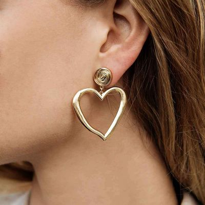 Irregular Heart Shaped Drop Earrings Geometric Earrings for Women