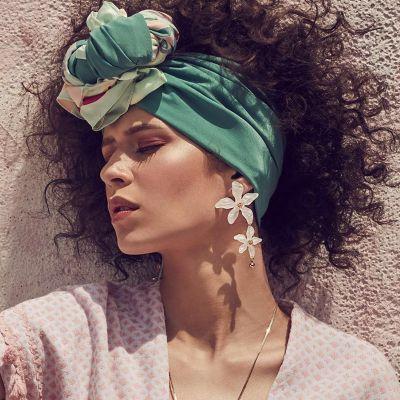 Acrylic Flower Bohemian Drop Earrings Vintage Resign Earring