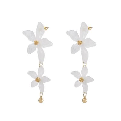 Acrylic Flower Bohemian Drop Earrings Vintage Resign Earring