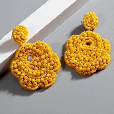 Floral Beaded Drop Boho Earrings for Travel