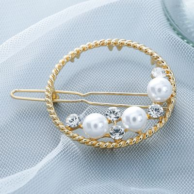 Pearl Bow-knot Hair Pin Geometric Hairclips