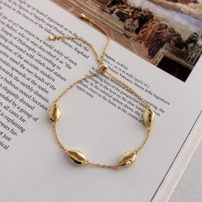 Cute Hollow-out Shell Bracelet Chain S925 Sliver Bracelet