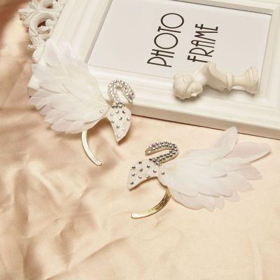 Bridal Feature Rhinestones Ear Climber Ear Cuff for Wedding