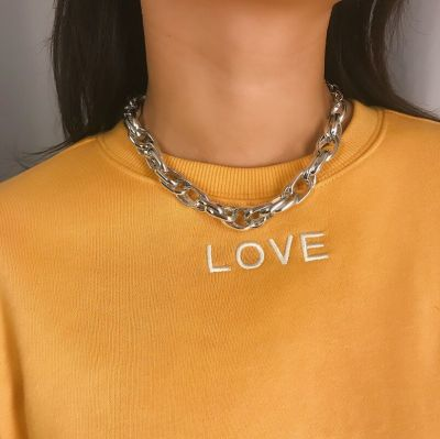 Punk Twist Chain Necklace Choker Chain for Women and Men