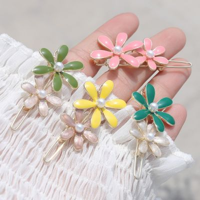 Multicolor Flowers Hair Clips Cute Hair Pins