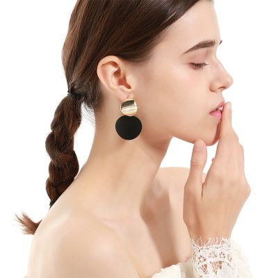 Metal Round Drop Earring Bridal Hoop Earrings