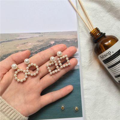 Pearls Geometric Cute Dangle Earrings Small Woman Earring