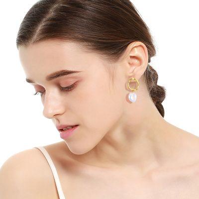 Pearl Drop 925 Sterling Silver Earrings for Wedding