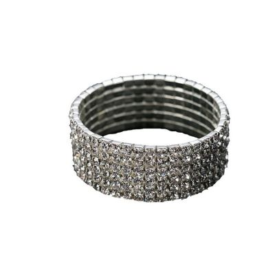 Adjustable Rhinestones Bangle Bracelets Rock Woman Bracelets