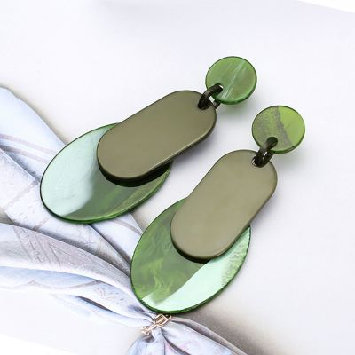 Acrylic Colorful Dangle Drop Earrings Statement Earring