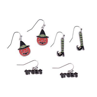 Hallowen Pumpkin Hook Dangle Earrings