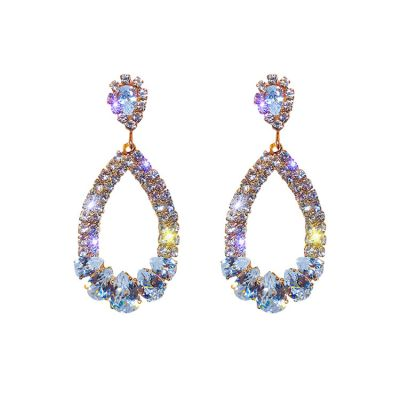 Rhinestones Drop Geometric Earrings for Wedding Gift Earring