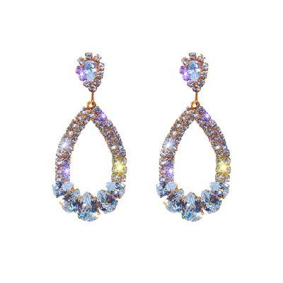 Rhinestones Drop Geometric Earrings for Wedding Gift Earring