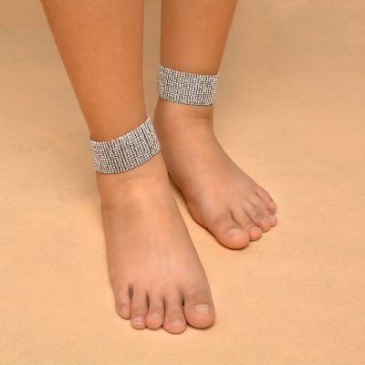 Chunky Rhinestones Ankle Bracelets Sexy Party Body Jewelry