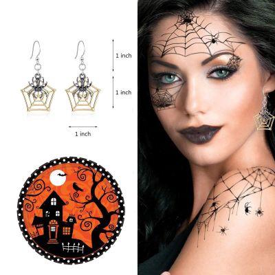 Hallowen Pumpkins Ghost Punk Hook Dangle Earrings