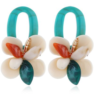 Floral Zinic Drop Earring Wedding Statement Earrings