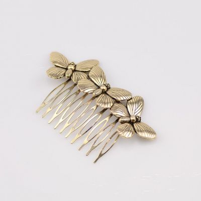 Cute Butterfly Alloy Hair Comb Bridal Hair Accessories Hairclips