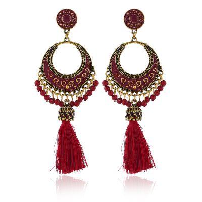 Beads Tassel Dangle Earrings Bohemian Earring