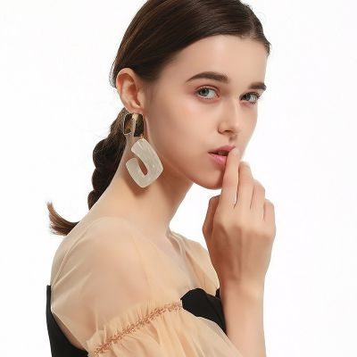 Acrylic Geometric Dangle Earrings Party Resign Earring