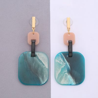 Acrylic Square Drop Dangle Earrings Evening Party Earring