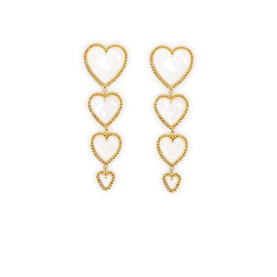 Heart Drop Dangle Earrings Cute Women Earring