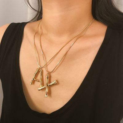 Initial Collarbone Chain Necklace A to Z Statement Necklace Jewelry Gifts