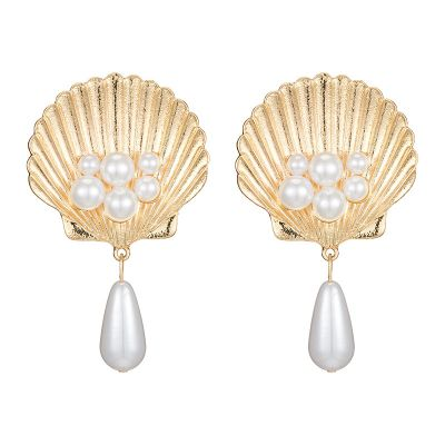 Tear Drop Earrings Shell Bridal Earrings