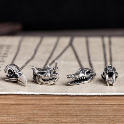 Animal Rock Sterling Silver Necklace