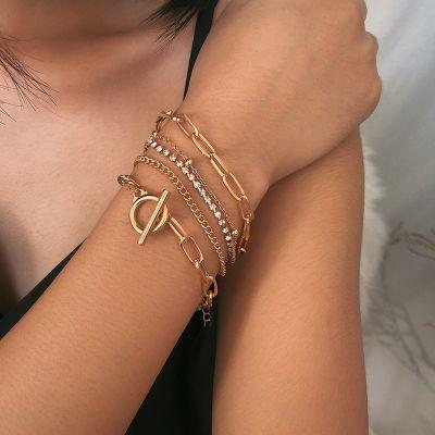 Bohemia Crystal Bracelet Chain Geometric Layer Bracelets