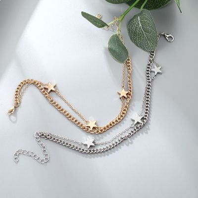 Bohemia Star Layered Ankle Chain Bracelets Fashion Body Jewelry
