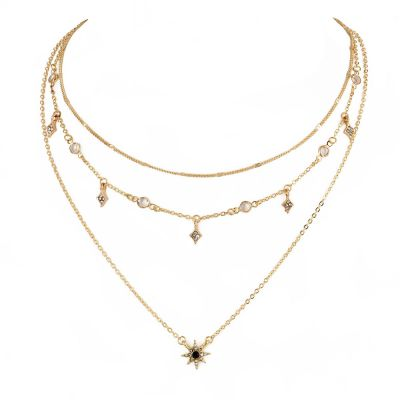 Bohemia Star Pendants Layered Chain Necklace