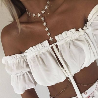Boho Stars Body Chain Necklace Birkini Body Jewelry for Beach