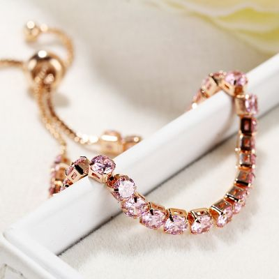 Chic Color Crystal Adjustable Bracelet