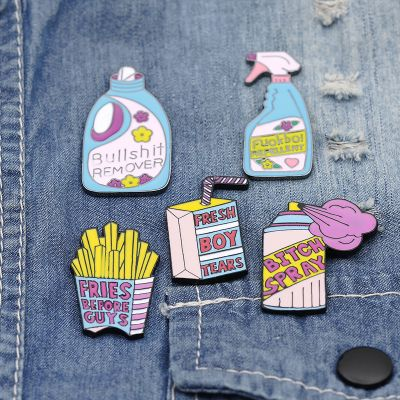 Cartoon Cute Detergent Cleaning Brooches Set Gift for Girls