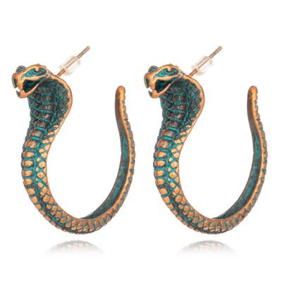 Cobra Rock Metal Hoop Earring