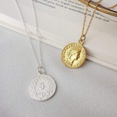 Coin Pendants s925 Sterling Silver Necklace Gifts for Woman