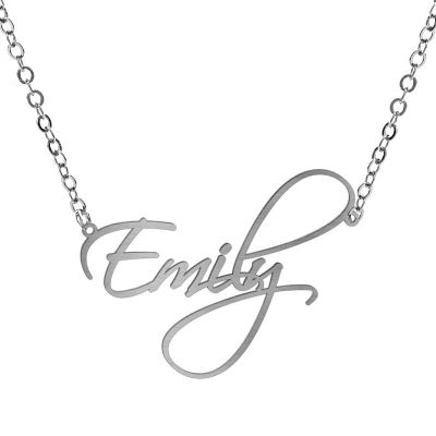Customized Name Necklace Stainless Stell DIY Necklace Gifts for Girlfreind