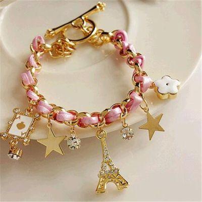 Cute Eiffel Tower Stars Charm Bracelets Women Ankle Bracelets