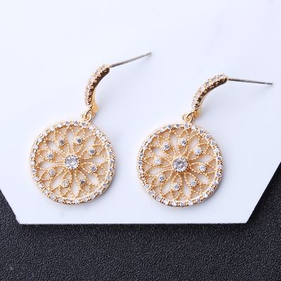 Cute Rhinestones Fruit Round Drop Earring Clip Christmas Gift for Her