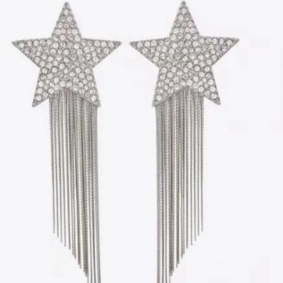 Fashion Rhinestones Star Fringe Earrings for Wedding
