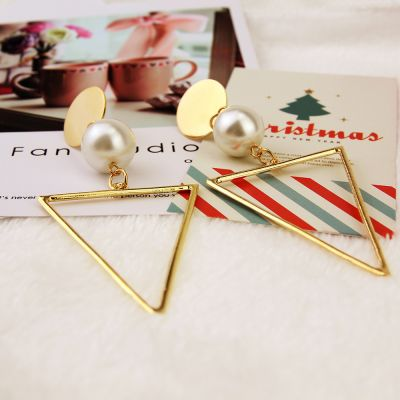 Fashionable Triangle Drop Statement Earrings for Party