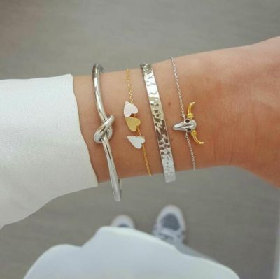 Hearts Animal Bangle Bracelets Gifts for Girls