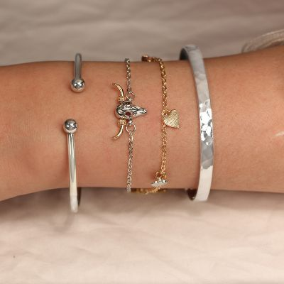 Hearts Animal Bangle Bracelets Gifts for Girls