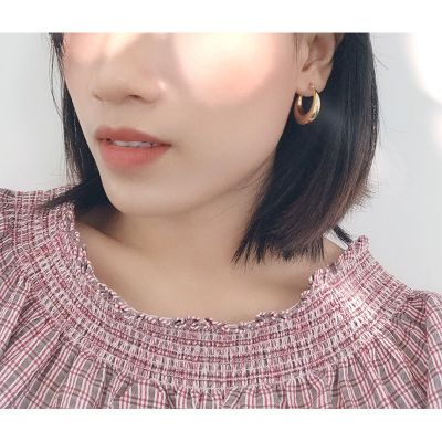 Retro Hollow Crescent Hoop Earrings
