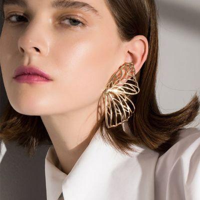 Hollow out Butterfly Earrings Bohemian Big Studs Earrings