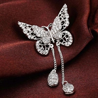 Luxury Butterfly Cubic Zirconia Animal Brooches Pins Collection