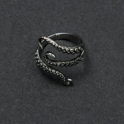 Octopus Claw Ring Titanium Steel Punk Retro Rings