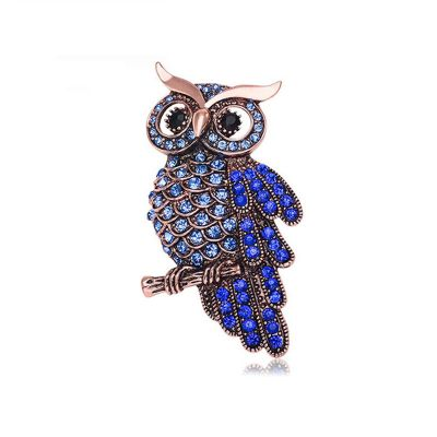 Owl Rhinestones Brooches Animal Pins Gift for Women